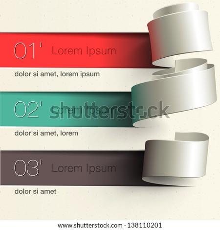 Modern design infographic template, vector illustration. - stock vector