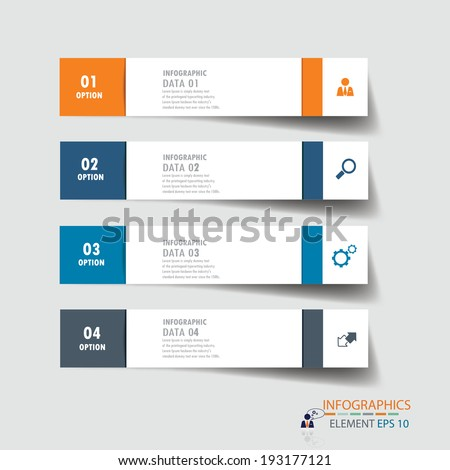Modern design infographics template. vector can be used for workflow layout / numbered banners / step up option / graphic or website layout vector  - stock vector