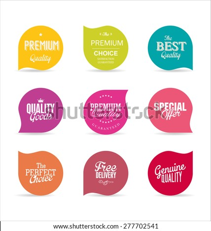 Modern design labels - stock vector