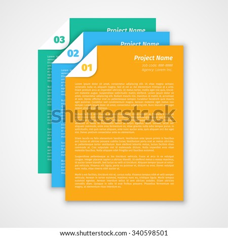 Modern design Layout, Project Management Brief / EPS10 Vector