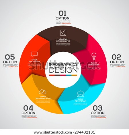 Modern Design Minimal infographic template - can be used for infographics , numbered banners, graphic or website. Vector - stock vector