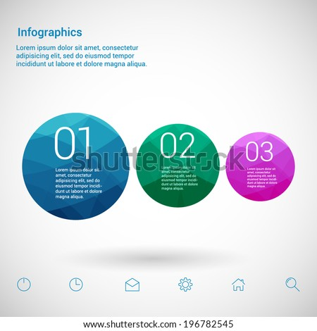 Modern Design Minimal style infographic template layout. Infographics, numbered banner, graphic or website layout vector with icons.  - stock vector