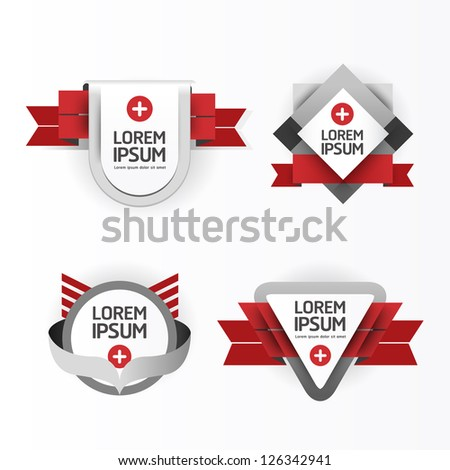 Modern Design modern Labels / can be used for infographics / numbered banners / graphic or website layout vector/Horizontal - stock vector