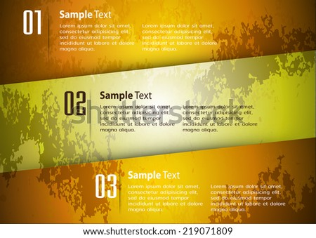 modern design old paper text box template for website graphic technology and internet , labels, numbers.  - stock vector