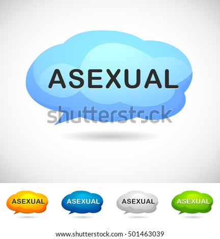 Modern Design Speech Bubble Asexual  for Web, Mobile App