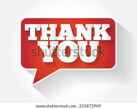 Modern Design Speech Bubble Thank You, vector concept - stock vector