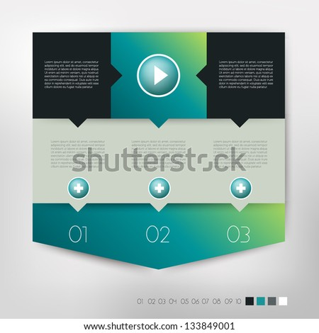 Modern design speech  diagram for infographic. Vector  banners template in cold colors. - stock vector