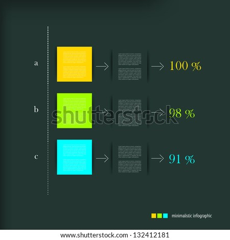 Modern design speech minimalistic diagram for infographic. Vector numbered banners template in cold colors. - stock vector