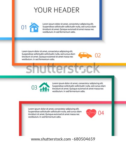 Modern design style infographic template illustration for Process server business card samples