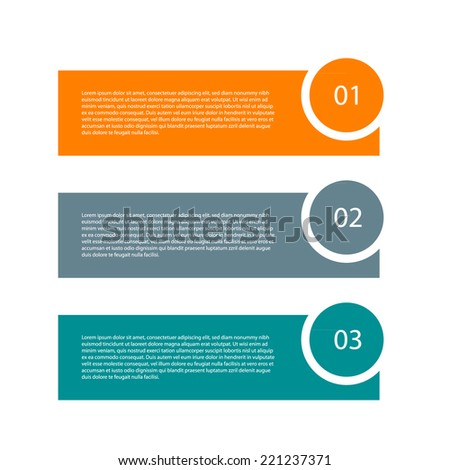 Modern design template. Can be used as infographics / numbered banners / workflow diagram - stock vector