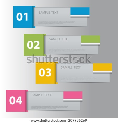 Modern design template, can be used as numbered banners. - stock vector