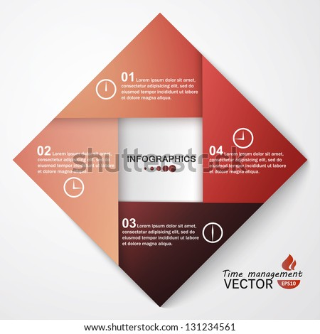 Modern Design template / can be used for info graphics / numbered banners / horizontal cutout lines / graphic or website layout vector - stock vector
