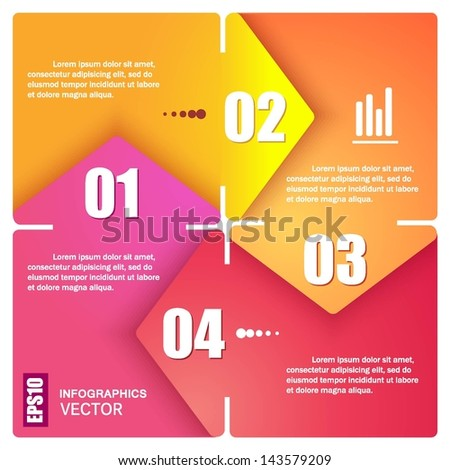 Modern Design template / can be used for info graphics / numbered banners / horizontal cutout lines / graphic or website layout vector