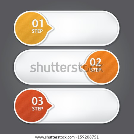 Modern Design template / can be used for infographics / numbered banners / graphic or website layout vector - stock vector