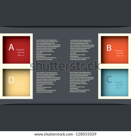 Modern Design template / can be used for infographics / numbered banners / horizontal cutout lines / graphic or website layout vector in EPS 10 format. - stock vector