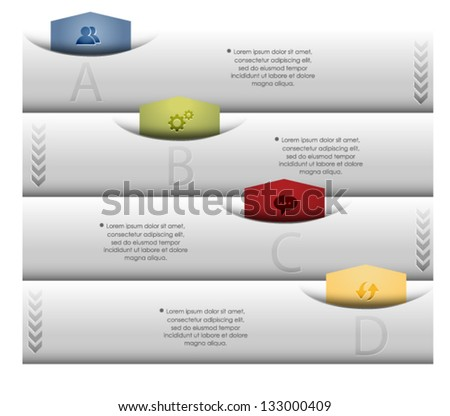 Modern Design template / can be used for infographics / Numbered banners / Vector EPS10. - stock vector