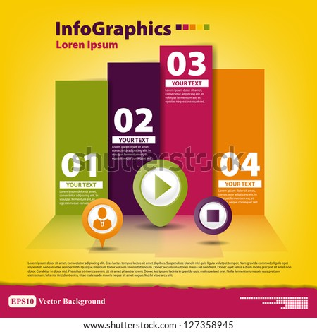 Modern Design template for infographics - stock vector