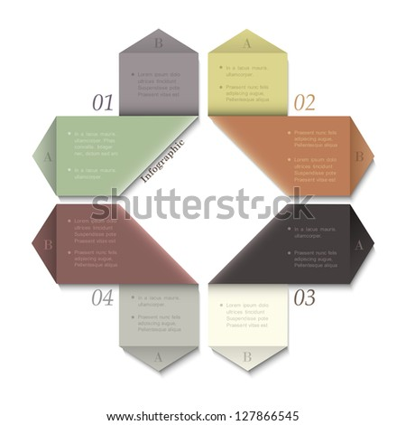 Modern Design template for infographics and website templates or design graphic for business. Vector EPS10 in retro colors - stock vector