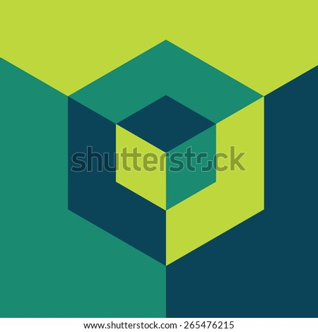 Modern design template. Isometric cube. Info-graphics style. - stock vector
