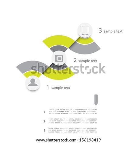 Modern design template, minimalism style - stock vector