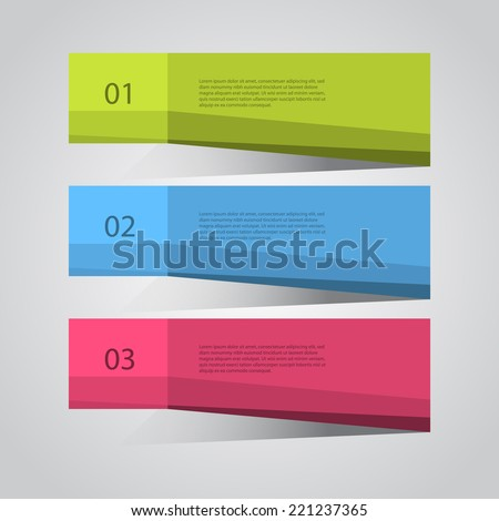 Modern design template / numbered banners. - stock vector