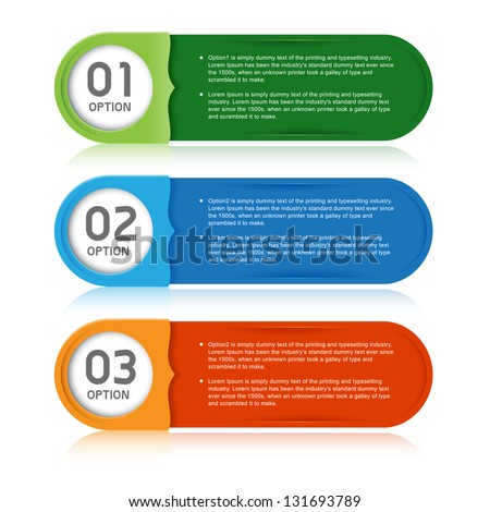 Modern Design template numbered banners info graphic vector - stock vector