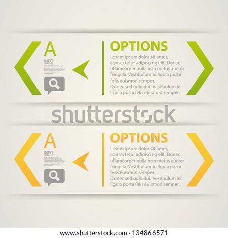 Modern Design template option banners and progress infographics. Vector - stock vector