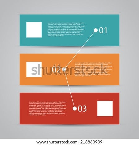 Modern Design Template / workflow layout / numbered banners / web design. - stock vector