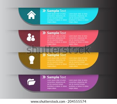 modern design text box template website stock vector 204555574