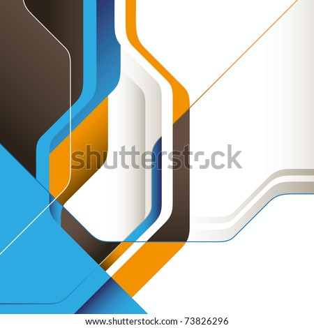 Modern designed conceptual graphic with abstraction. Vector illustration. - stock vector