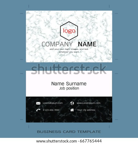 Modern designer business card layout templates stock vector modern designer business card layout templates marble texture background easy to use by print cheaphphosting Image collections