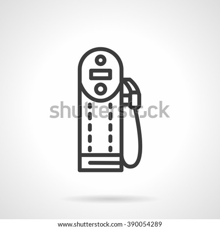 Modern digital refueling station. Gas station. Oil and gasoline industry. Black line style single vector icon. Element for web design, business, mobile app.  - stock vector