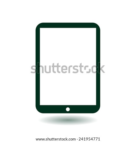 Modern digital tablet PC icon. Flat design icon. vector EPS 10. - stock vector