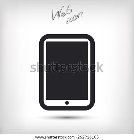 Modern digital tablet PC icon, vector illustration. Flat design style - stock vector