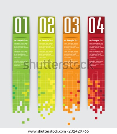 modern digital text box for website, numbers. - stock vector
