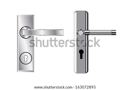 Modern door handles eps8 - stock vector