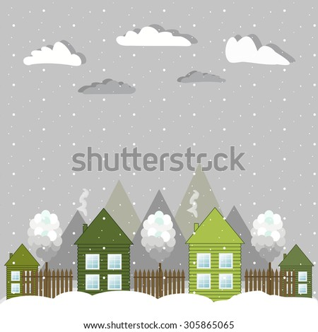 Modern Eco Houses, Think Green Concept - stock vector