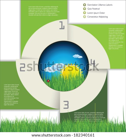 Modern ecology Design Layout - stock vector