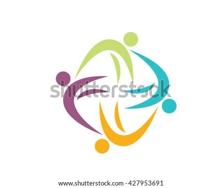 Modern Education Logo - F Organization Symbol - stock vector