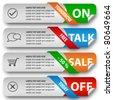 Modern elegant sale design eps10 vector banners - stock vector