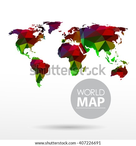 Modern elements of info graphics. Polygonal, mosaic World Map Modern elements of info graphics. Polygonal, mosaic World  Map Modern elements of info graphics. Polygonal, mosaic World Map - stock vector