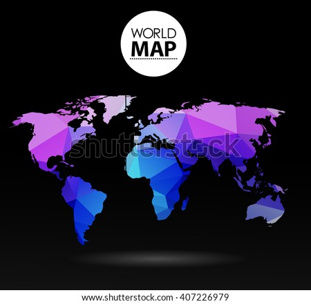 Modern elements of info graphics. Polygonal, mosaic World Map Modern elements of info graphics. Polygonal, mosaic World Map - stock vector