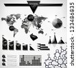 Modern elements of infographics. World Map / Information Graphics/ abstract modern Label, bubble and header - stock vector