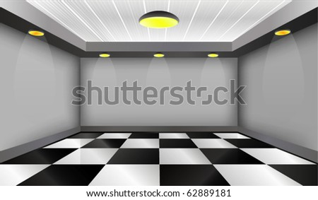 Modern Empty Interior - stock vector