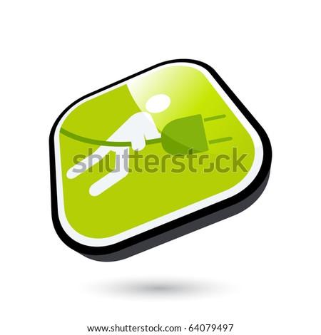 modern energy sign in 3D - stock vector