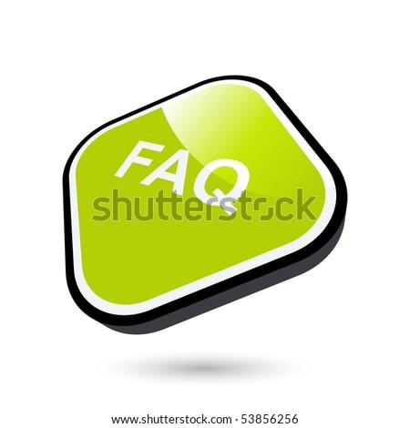 modern faq sign - stock vector