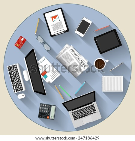Modern flat design brainstorming and teamwork concept   for e-business, web sites, mobile applications, banners, corporate brochures, book covers, layouts etc. Vector eps10 illustration - stock vector