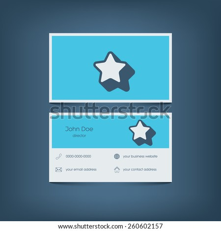 Modern flat design business card template stock photo photo vector modern flat design business card template graphic user interface with line icons for website flashek Image collections