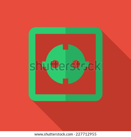 Modern flat design concept icon electrical outlet. Vector illustration. - stock vector