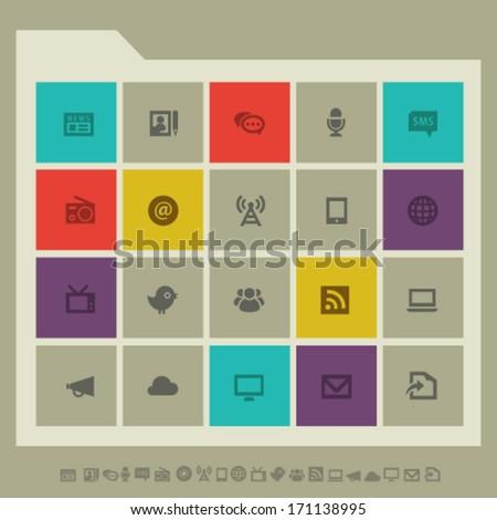 Modern flat design information icons - stock vector